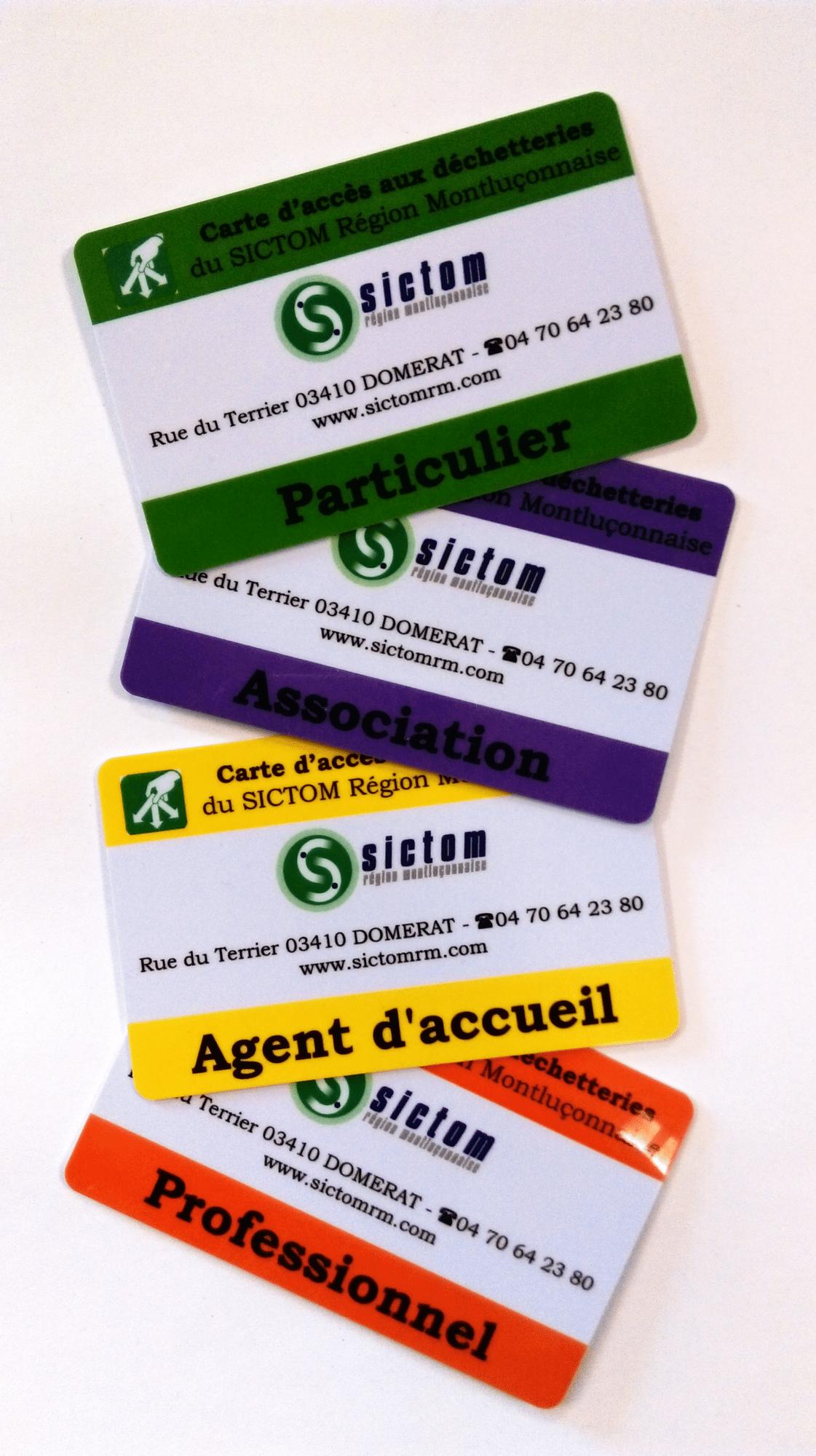 badges accès en déchetterie SICTOM RM